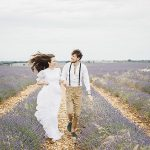 Photo session in lavender field