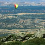 Paragliding flight in Madrid