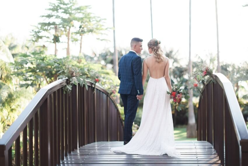 wedding in Tenerife hotel Botanico