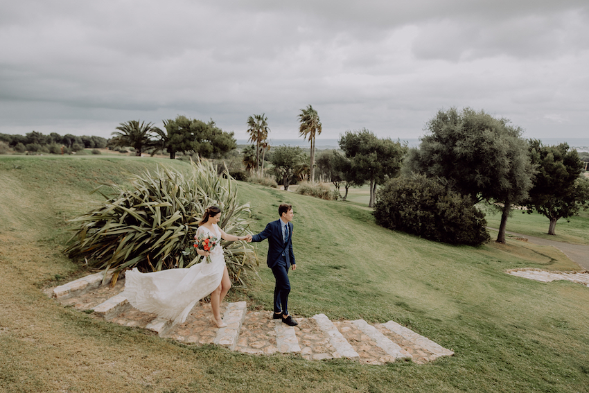 A wedding with views of the sea in Mallorca