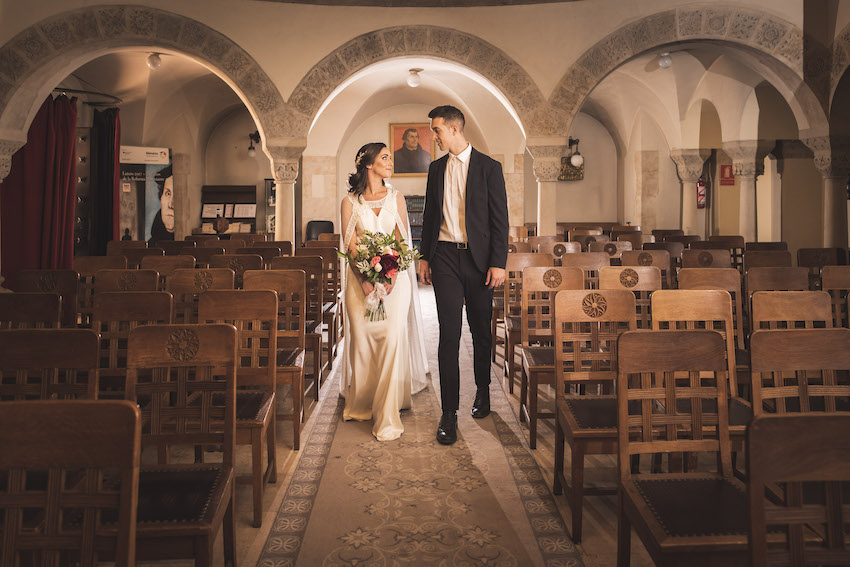 wedding in German Evangelical Church