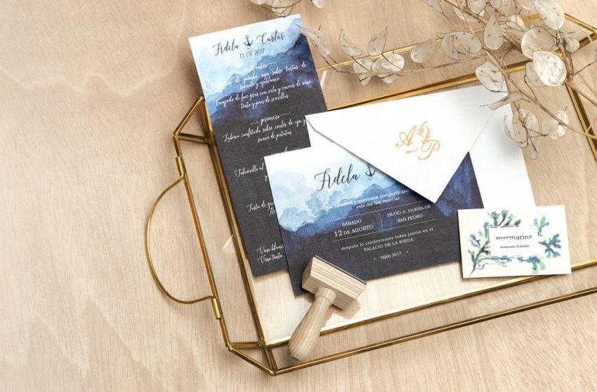Invitaciones boda Marmarina