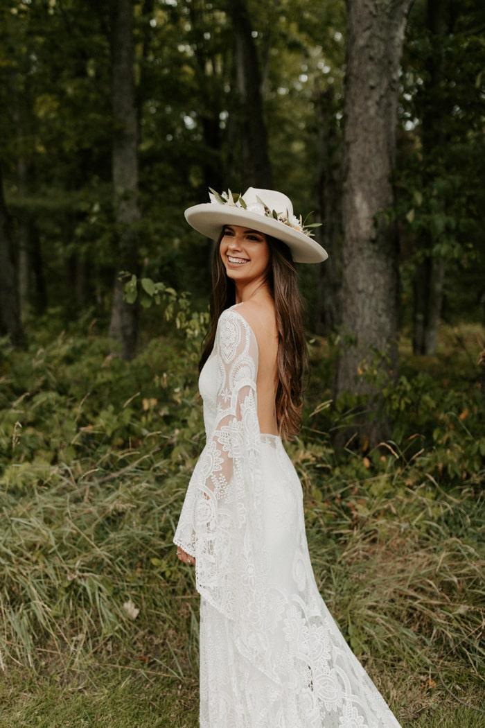 boho cgic wedding dress